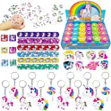 Tanlling 56 Pack Unicorn Party Favors Supplies, Rainbow Unicorn Theme Party Favor, Unicorn Birthday Party Gift, Party Toys, R
