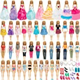 SOTOGO Doll Clothes and Accessories for Barbie Dolls Include 24 Sets Fashion Dresses/Wedding Dresses/ Pants Outfits/Swimsuits