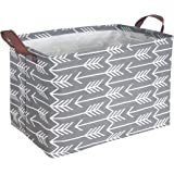 HIYAGON Rectangular Storage Box,Fabric Storage Bin for Organizing Toys,Collapsible Storage Basket for Baby, Kids or Pets,Clot