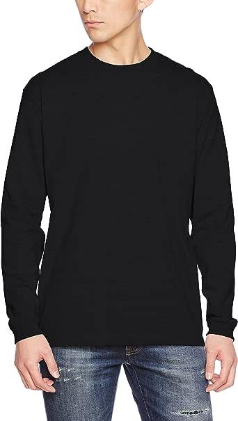 (ユナイテッドアスレ)UnitedAthle 5.6オンス 長袖Tシャツ(1.6インチリブ) 501101 [メンズ] 002 ブラック XS