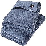 One's Towel Lab 今治タオル 認定 バスタオル 2枚セット 日本製 ホテル仕様 甘撚り 高級綿 綿100% (スモークネイビー)