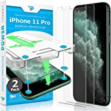 Power Theory Compatible with iPhone 11 Pro Screen Protector - Tempered Glass Film for Apple iPhone 11 Pro [2-Pack][Case Frien