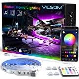 TV Led Backlight 14.3 Feet, App Control Music Sync for 65-75in TV/PC with Remote, RGB 5050 USB Led Strip Lights for TV, Bedro
