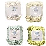 Zen mindfulknits Knitting Yarn, Crochet Yarn & 100% Cotton Yarn for Knitting, Crocheting, Soft & Gentle Worsted Weight Yarn f