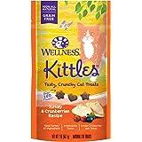 Wellness Kittles Grain-Free Turkey & Cranberries Recipe Crunchy Cat Treats, 2 Ounce Bag