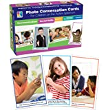 Key Education Photo Conversation Cards— Grades K-5 Social, Emotional, Behavioral, Communication Skills Flashcards For Childre