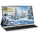 4K Portable Monitor - AZMIOR 15.6 Inch UHD 3840x2160 IPS 100% sRGB 60Hz, HDR Freesync Gaming Computer Display with Dual USB C