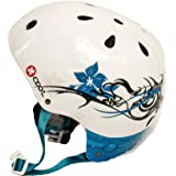 Small White with Flowers XCOOL Helmet