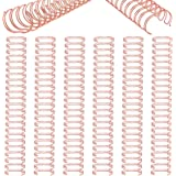6 Pieces Twin Loop Wire Binding Spines Double Loop Wire Binding Rings Wire Cinch 1 Inch Diameter 23 Holes for Teacher Student