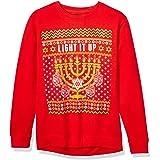 Hybrid Unisex-Adult's Holiday Let's Get Lit Fleece, red