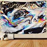 Alishomtll Colorful Gouache Tapestry Psychedelic Art Tapestry Marble Swirl Tapestries Natural Landscape Trippy Tapestry for R