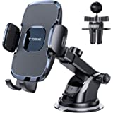TORRAS [Ultra-Durable] Cell Phone Holder for Car, Universal Car Phone Mount Dashboard Windshield Vent Compatible with iPhone