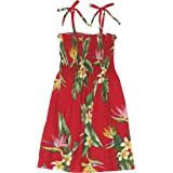 RJC Girls Bird of Paradise Display Elastic Tube Top Sundress