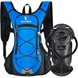 ROCKRAIN Windrunner Lightweight Hydration Pack with 2L BPA Free Water Bladder - Outdoor Sports Gear for Running, Cycling, Hik