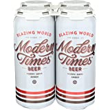 Modern Times Blazing World Hoppy Amber Ale, 473 ml (Pack of 4)