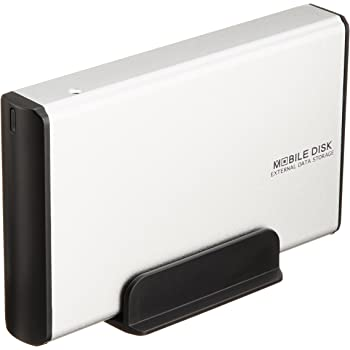 玄人志向 3.5型HDDケース SATA接続 USB2.0対応 シルバー GW3.5AA-SU2