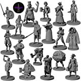18 DND Miniatures Townsfolk & Hero Figures 28mm | Creative Tabletop Fantasy DND Minis for Dungeon and Dragons | for Pathfinde