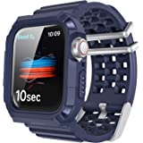 AhaStyle 交換用 Apple Watch バンド 一体式 Apple Watch 38mm 40mm 42mm 44mm, スポーツ バンド Apple Watch Series 5(2019), Series 4, Series 3, Se