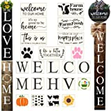 23PCS Large Letter Welcome Stencils for Painting On Wood Reusable Farmhouse Signs Stencils for Wood-Cursive Letter Stencils-S