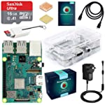 ABOX Raspberry Pi 3 B+ Complete Starter Kit with Model B Plus Motherboard 16GB Micro SD Card NOOBS, 5V 2.5A On/Off Power...