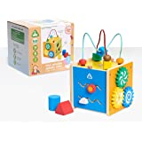 Early Learning Centre Mini Wooden Activity Cube, Fine Motor Skills, Hand Eye Coordination, Problem Solving, Toys for Ages 18-