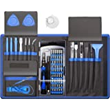 80 IN 1 Professional Computer Repair Tool Kit, Precision Laptop Screwdriver Set, with 56 Bit, Anti-Static Wrist and 24 Repair