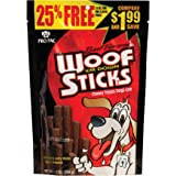 Pro Pac Beef Flavored Woof 'Em Down Sticks Dog Treats, 7.2-Ounce Bag