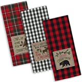 """DII Cotton Christmas Holiday Dish Towels, 18x28"""" Set of 3, Decorative Oversized Embroidered Kitchen Towels, Perfect Home and"""