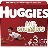 Huggies Little Snugglers Baby Diapers, NEW Economy Plus, Size 3, ct 156.0