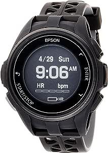 [エプソン] 腕時計 リスタブルジーピーエス GPSランニングウォッチ 脈拍計測 J-300B ブラック