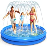 INNOCHEER Sprinkler Pad & Swimming Pool for Kids, Combination of Inflatable Swimming Pool & Splash Sprinkler Pad, Outdoor Chi
