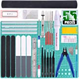 Keadic 55Pcs Professional Modeler Basic Tools Craft Set Hobby Building Tools Kit for Gundam Car Model Building Repairing and