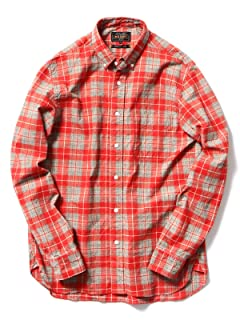 Print Check Buttondown Shirt 11-11-2477-139: Red