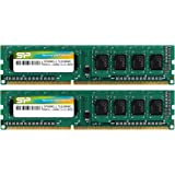 Silicon Power 16GB (2 x 8GB) DDR3 1600MHz (PC3 12800) 240-pin CL11 1.35V Unbuffered UDIMM Desktop Memory Module - Low Voltage