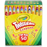 Crayola Mini Twistables Crayons, 50 Colours, Durable, Twist for fun, No Sharpening Needed, Art & Craft, Kids and Back To Scho