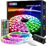 LED Strip Light 65.6ft/20M, Xkey Led Lights Color Changing RGB SMD 5050 LED Strip Light Kit with 44 Keys IR Remote Controller