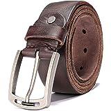 [ハイワイゼット] ベルト メンズ イタリアン上質本革 カジュアルベルト 一枚革仕立て手作り ピン式 プレゼント