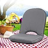 Artiss Stadium Seat Portable Waterproof Camping Floor Lounge Chair, Grey