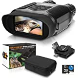 CreativeXP Digital Night Vision Binoculars for 100% Darkness - Save Photos & Videos with Audio - 7x31 mm Infrared Spy Gear fo
