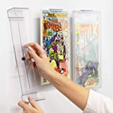 Comic Mount Comic Book Shelf Stand and Wall Mount, Invisible and Adjustable, 5 Pack