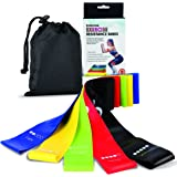 Resistance Bands, [Set of 5] Skin-Friendly Resistance Fitness Exercise Loop Bands with 5 Different Resistance Levels - Workou