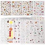 Inovat Cute Molang Rabbit Bunny Rabbit Charactor Sticker Diary Scrap Book Scrapbooking Decor Decoration 6 Sheets Lot Korean S