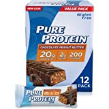 Pure Protein Chocolate Peanut Butter Bar, 12 Count,1.76 ounce