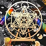 """Choupee 11.5"""" Metatron's Cube Crystal Grid - Sacred Geometry Wall Art & Home Decor - Wooden Wall Sculpture, Meditation & Ener"""