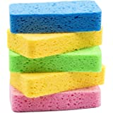 Temede Sponges for Dishes, Large Cellulose Kitchen Sponge, 3.5cm Thick Heavy Duty Scrub Sponges for Cleaning, Non-Scratch Dis
