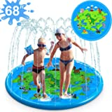"""iGeeKid 3-in-1 Splash Pad Sprinkler for Kids, 68"""" Splash Play Mat, Best Slip n Slide for Toddlers Boys Girls, Outdoor Water T"""