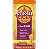 Metamucil Daily Fiber Supplement Orange Smooth 72 Tablespoons, 30.4 oz