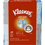 Kleenex Anti-Viral Facial Tissues, Cube Box, 60 Tissues per Box, 4 Pack (240 Tissues Total)
