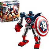 LEGO Marvel Avengers Classic Captain America Mech Armor 76168 Collectible Captain America Shield Building Toy, New 2021 (121