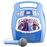 Frozen 2 Bluetooth Portable MP3 Karaoke Machine Player with Light Show Store Hours of Music with Built in Memory Sing Along U